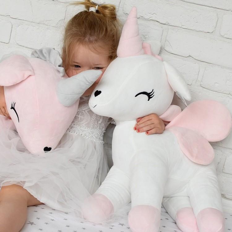 Kramdjur, rosa enhörning XL