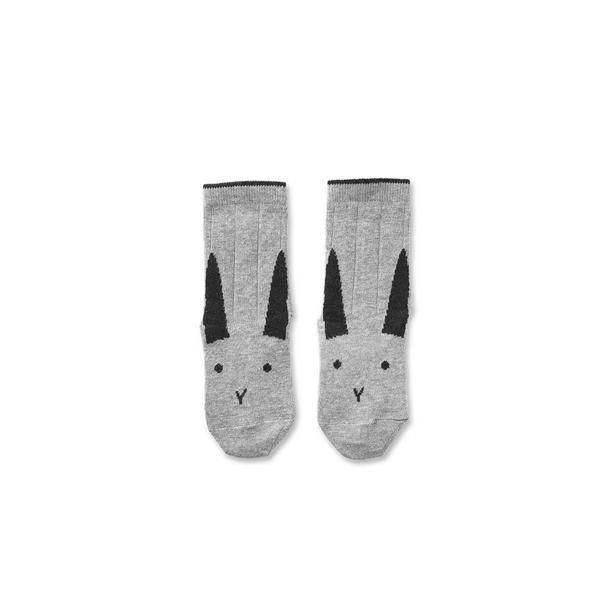 Liewood Strumpor Silas, Rabbit Grey Melange
