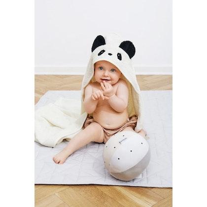 Liewood handuk med huva, Augusta Panda Creme De La Creme