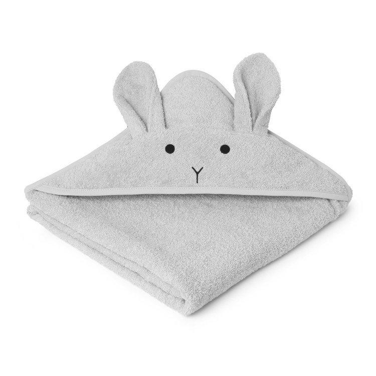 Liewood handuk med huva, Augusta Rabbit Dumbo Grey
