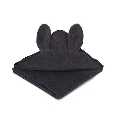 Liewood handuk med huva, Augusta Rabbit Dark Grey