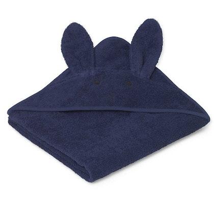 Liewood handuk med huva, Augusta Rabbit Navy