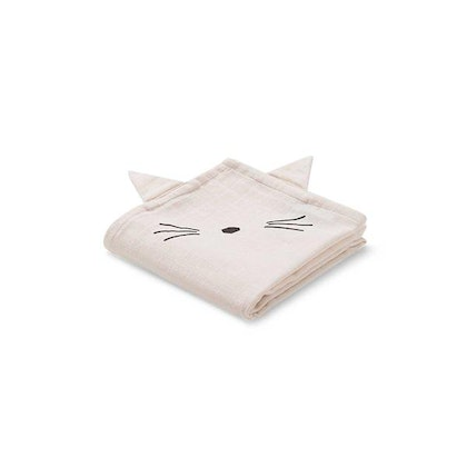 Liewood snuttefilt Hannah Cat Sweet Rose - 2 pack