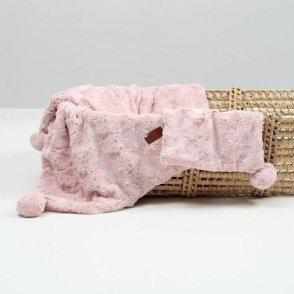 Fayne lyxigt rosa plyschfilt