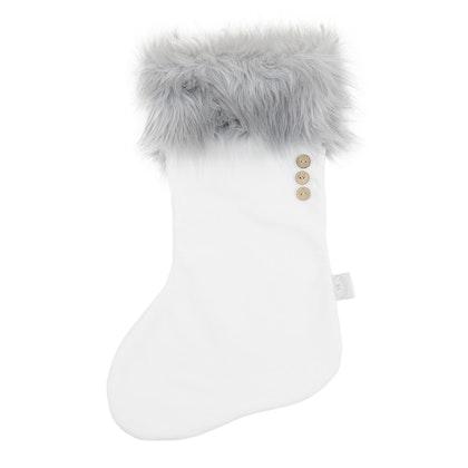 Cotton & Sweets , vit&grå  julstrumpa