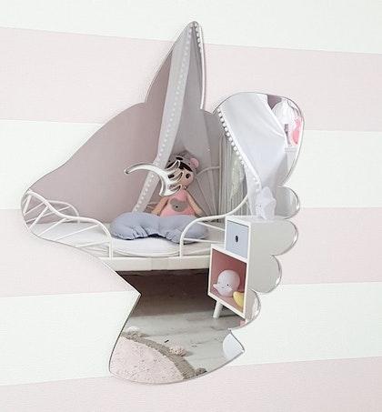 Barnspegel enhörning till barnrummet