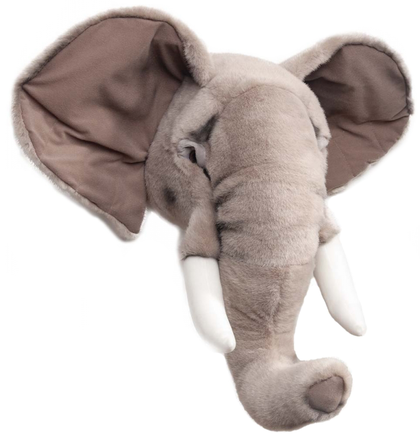 Brigbys elefanthuvud, djurhuvud till barnrummet