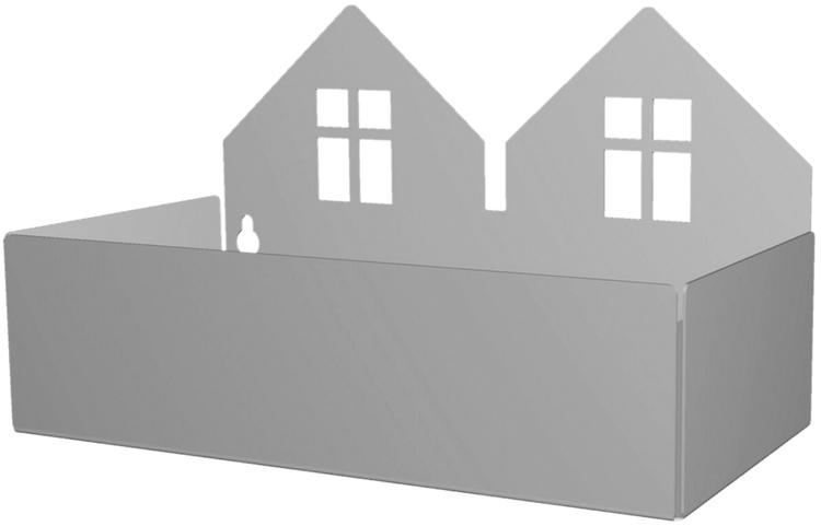 Roommate Förvaringshylla Hus, Grå