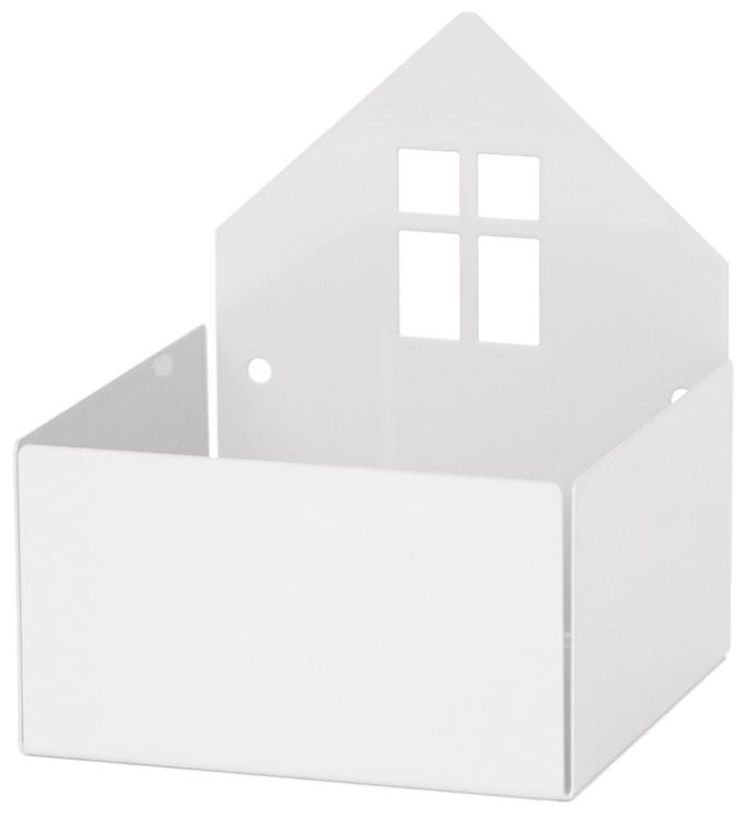 Roommate Vägghylla Hus, Vit