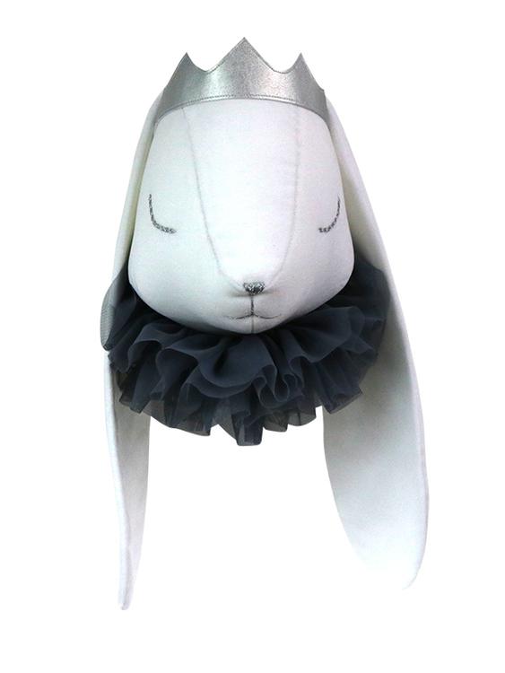 Djurhuvud vit kanin prins