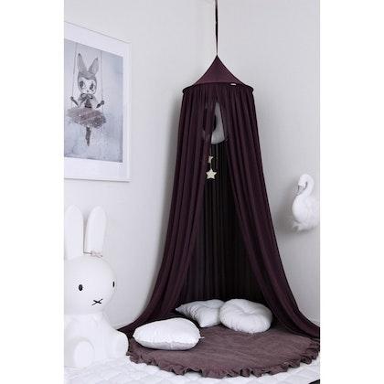 Lila sänghimmel till barnrummet med ljusslinga (20 ljuskällor), Cotton & Sweets
