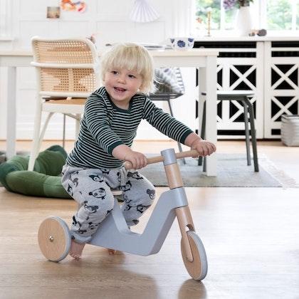 Sebra, trehjuling scooter grå