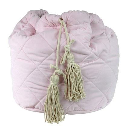 Rosa förvaringskorg i sammet