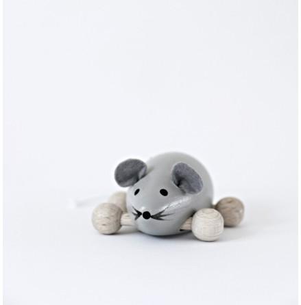 Molly mus, grå träfigur, Ella & Frederik
