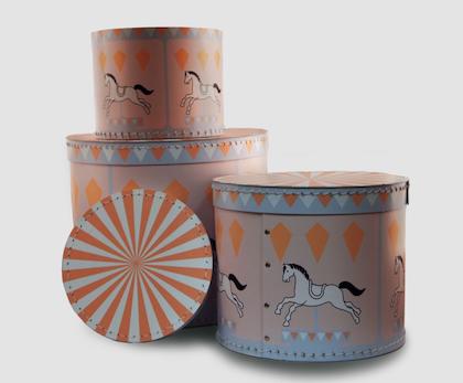 Förvaringsbox 3 pack , Karusell och Häst
