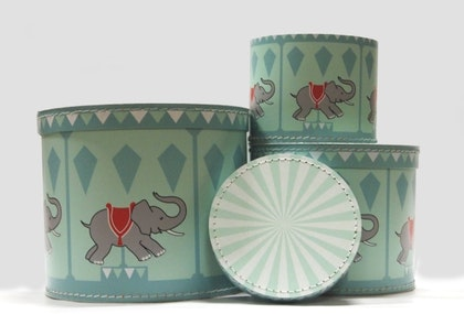 Fahrmans, Förvaringsbox 3 pack , Karusell och Elefant