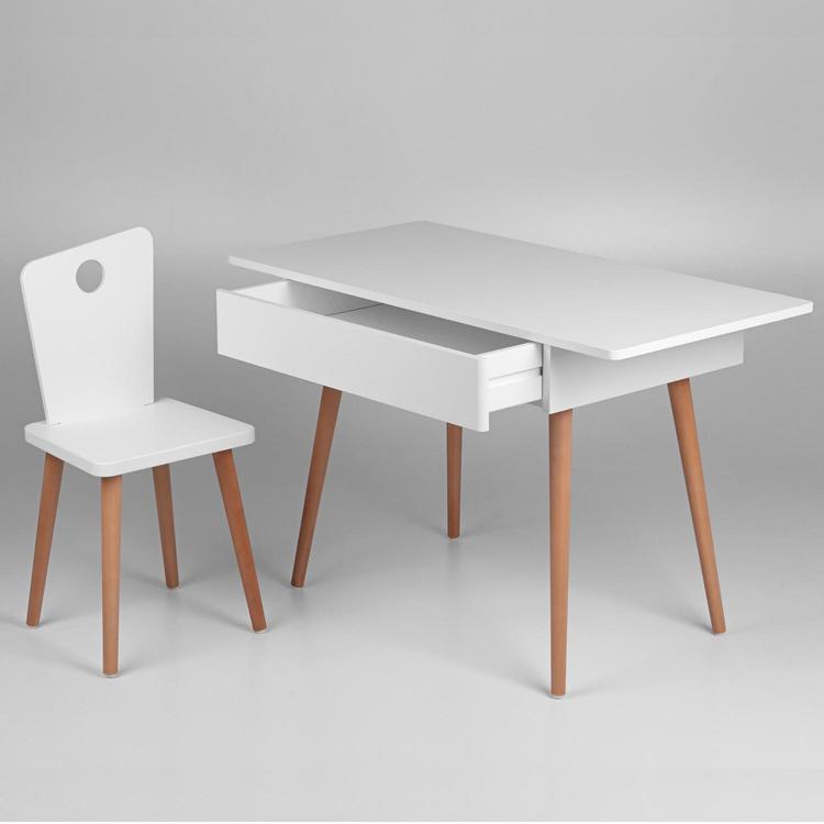Troll Skrivbord i vit & trä vit skrivbord för små barn
