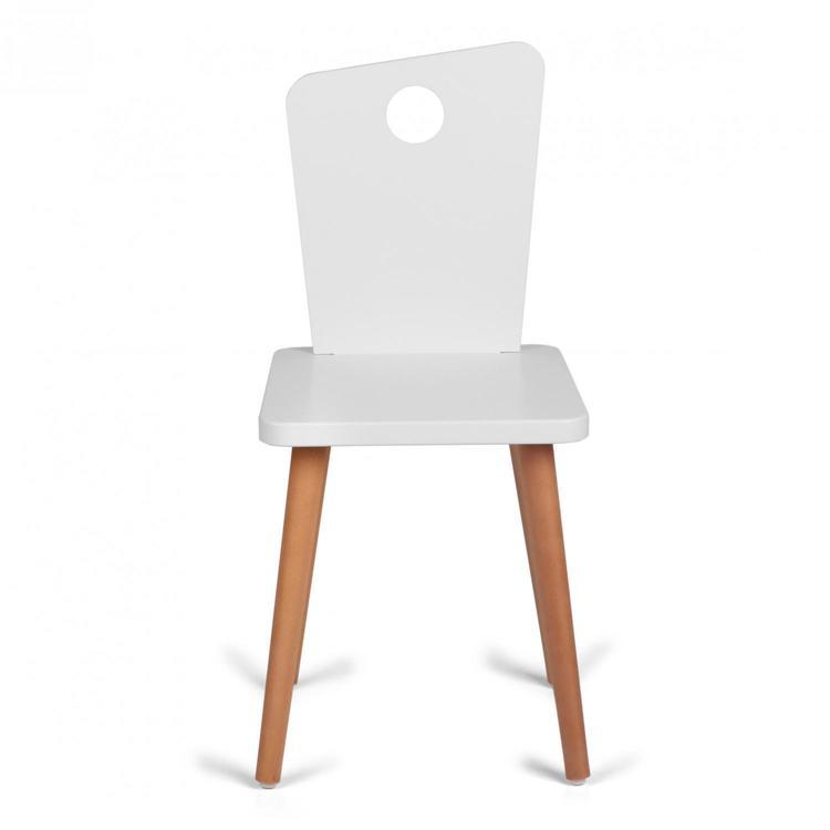 Troll stol för alla barn i vit & trä Troll stol för alla barn i vit & trä