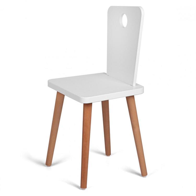 Troll stol för alla barn i vit & trä vit trä stol till barnrummet