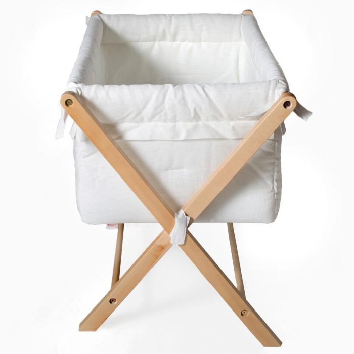 Troll babysäng, vagga, X-crib vagga i vit linne