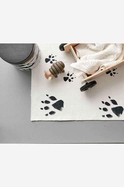 Kids Concept matta Neo svart/vit 140 x 175 svart vit matta till barnrummet