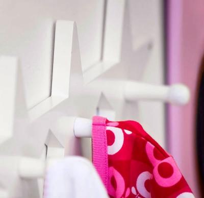 Kids Concept, hängare krokbräda star vit