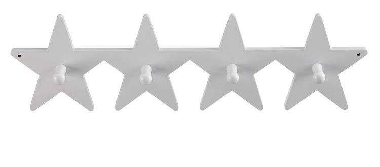 Kids Concept, hängare krokbräda star grå