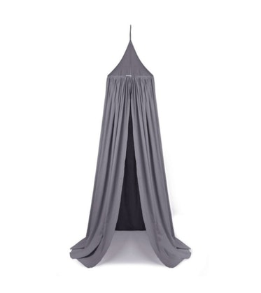 Liewood grå sänghimmel med ljusslinga