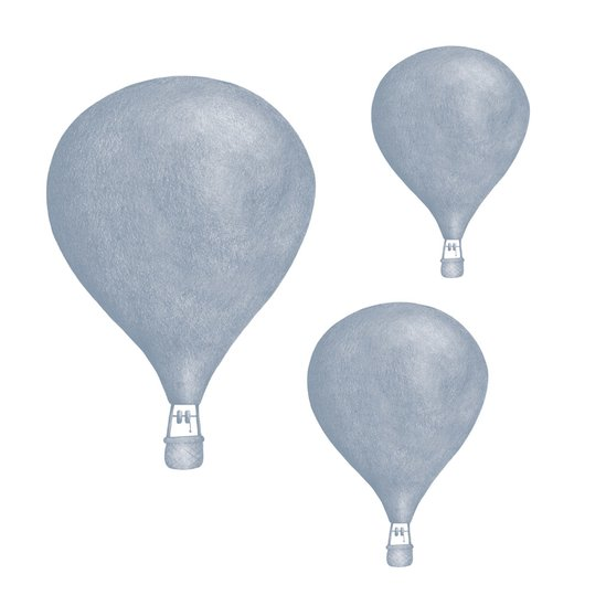 Ljusblå Luftballonger väggklistermärken, Stickstay