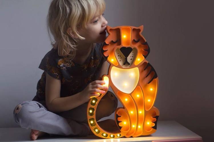 Little Lights, Nattlampa till barnrummet,  Tiger Little Lights, Nattlampa till barnrummet,  Tiger