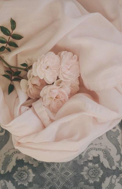 Little Heart snuttefilt, muslinfilt rosa