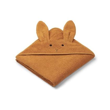 Liewood handuk med huva, Augusta Rabbit Mustard