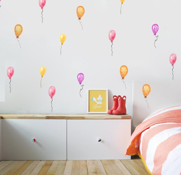 Väggklistermärken färgglada ballonger