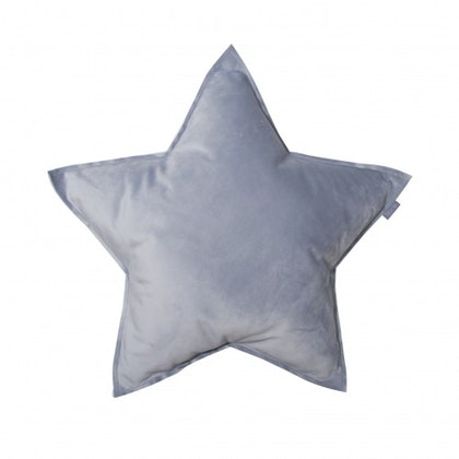Fayne, sammetskudde grå stjärna