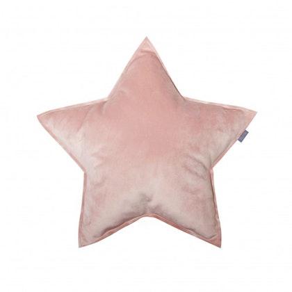 Fayne, sammetskudde rosa stjärna
