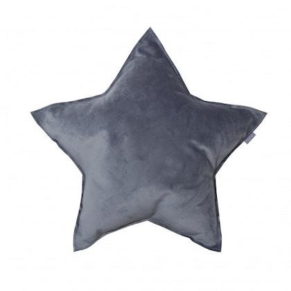 Fayne, sammetskudde mörkgrå stjärna