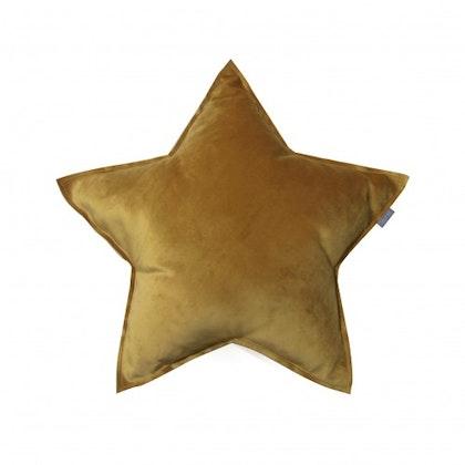 Fayne, sammetskudde senapsgul stjärna