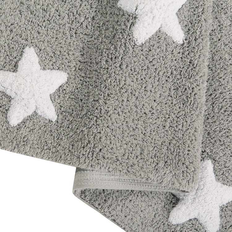 Lorena Canals matta till barnrummet 120 x 160, grå stjärnor