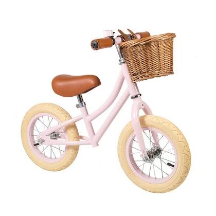 Banwood, Balanscykel First Go, rosa springcykel