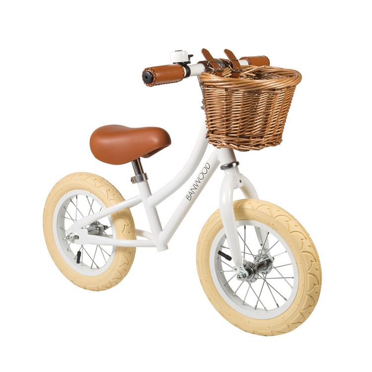 Banwood, Balanscykel First Go, vit springcykel