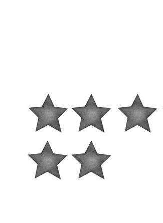 Mörkgrå stora stjärnor väggklistermärken, Stickstay