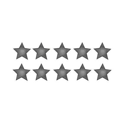 Mörkgrå små stjärnor väggklistermärken, Stickstay