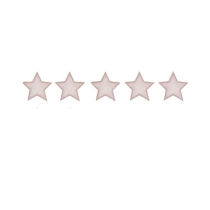 Gammelrosa stora stjärnor väggklistermärken, Stickstay