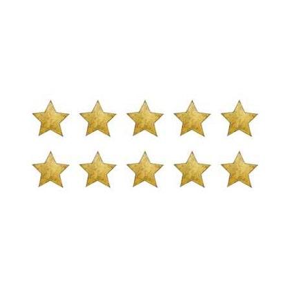 Vintage guld små stjärnor väggklistermärken, Stickstay