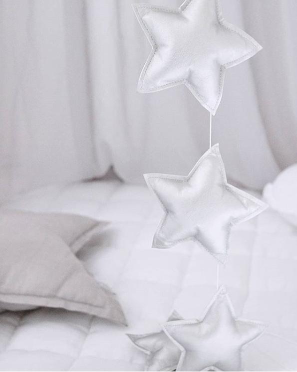 Vimpel silver stjärnor Cotton & Sweets