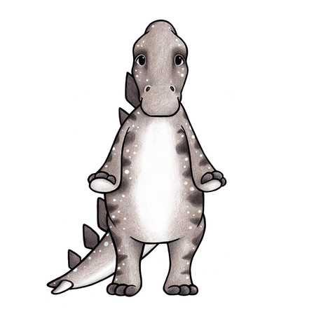 Dino vänner väggklistermärken, Stickstay