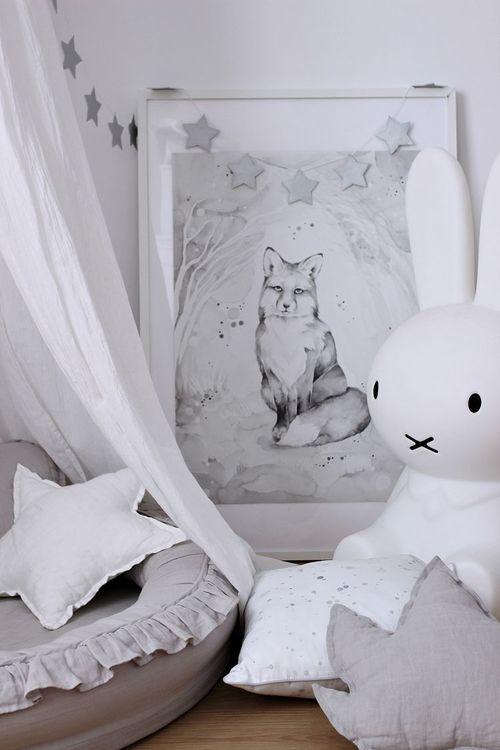 Cotton & Sweets ljusgrå junior nest i 100% linne