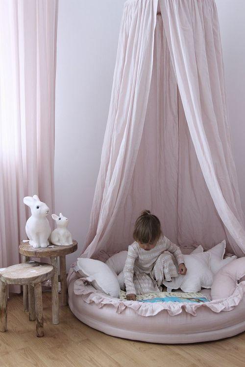 Cotton&Sweets rosa junior nest i 100% linne