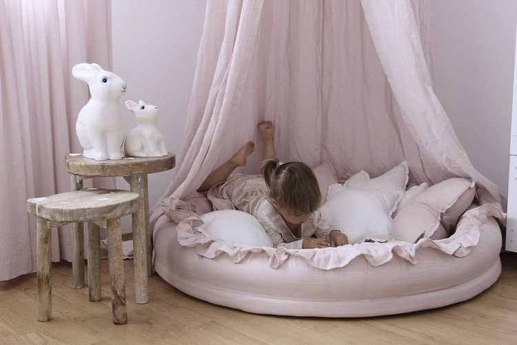 Cotton&Sweets rosa junior nest i 100% linne
