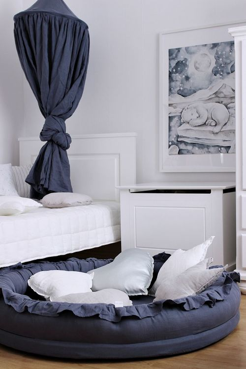 Cotton&Sweets denim junior nest i 100% linne